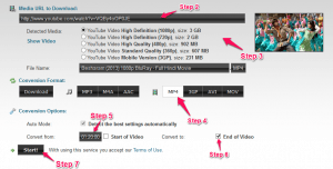 Download Youtube video from Clipconverter